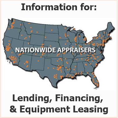 Equipment Appraisal for Lenders Financing Leasing