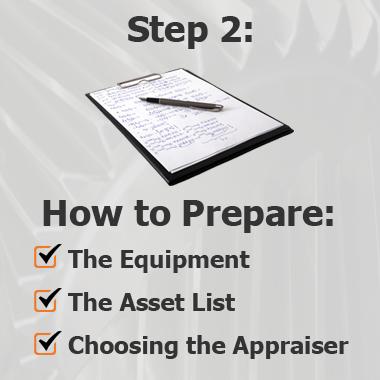 How to prepare the Equipment for Appraisal